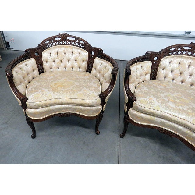 French Louis XV Style Marquis Chairs - a Pair For Sale - Image 3 of 12