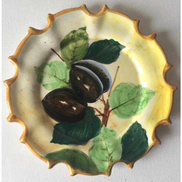 Italian 6 Italian Faience Hand-Painted Coasters For Sale - Image 3 of 10