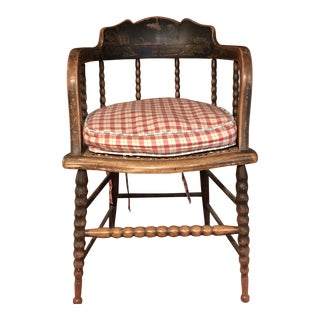19th Century American Barrelback Windsor Chair For Sale