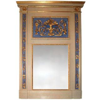 19th C. Italian Trumeau Mirror
