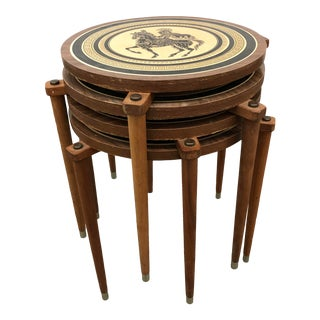 Mid-Century 3-Legged Nesting Occasional Tables - Set of 4 For Sale