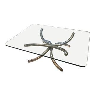Mid Century Modern Italian Chrome Coffee Table For Sale