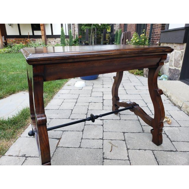 2010s Traditional Port Eliot 2-Drawer Wooden Side Table For Sale - Image 5 of 8