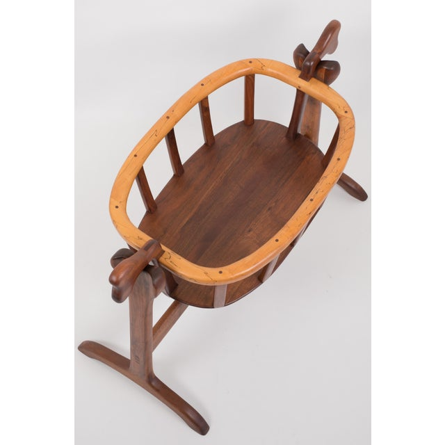 1970s Ejner Pagh American Craftsman Bassinet in Walnut For Sale - Image 5 of 11