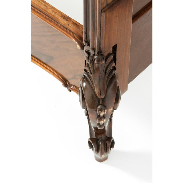 Chippendale Hand Carved Mahogany Matching Single Beds - a Pair For Sale - Image 12 of 13