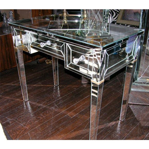 Custom Mirrored Writing Desk