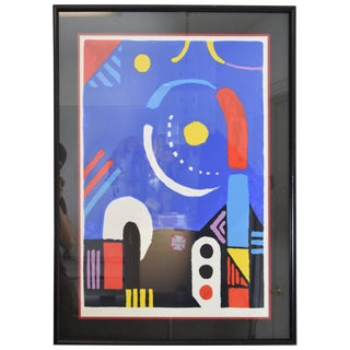 1980s Japanese Modern Lithograph by Kyohei Inukai For Sale