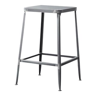 CB2 Industrial Metal Stools - Set of 3