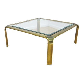 Widdicomb Mid Century Modern Brass Coffee Table For Sale