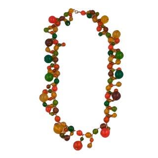 Bakelite Festive Summer Bead Necklace For Sale