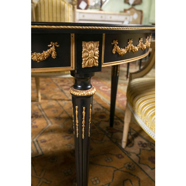 Maison Jansen Ebonized Dining Table W. Letter of Authentication. For Sale - Image 9 of 10