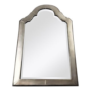 "Antique Charles & Richard Comyns Sterling Silver 24"" Art Deco Vanity Mirror For Sale"