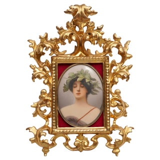 Wagner Porcelain Plaque Painting of Daphne by c.m. Hutschenreuther For Sale