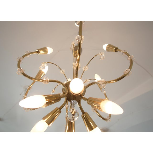 Brass Mid-Century Brass Chandelier by Emil Stehnar for Rupert Nikoll For Sale - Image 7 of 8