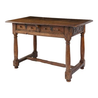 Early French Walnut Table For Sale