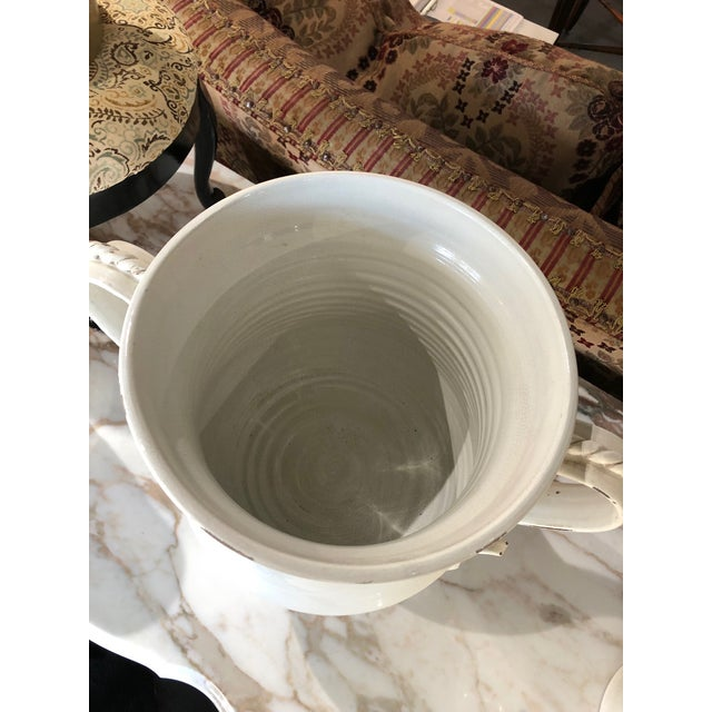Fortunata Italian Ceramic White Urns - a Pair For Sale - Image 11 of 13