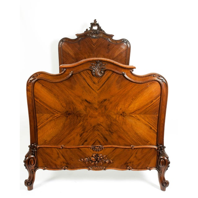 Chippendale Chippendale Hand Carved Mahogany Matching Single Beds - a Pair For Sale - Image 3 of 13