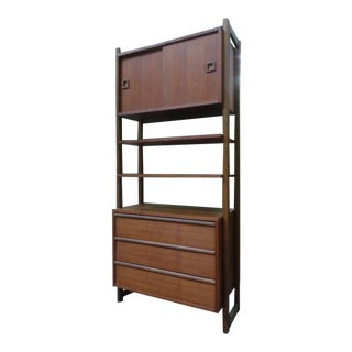 Mid Century Modern Shelf Cabinet Unit by Ello For Sale