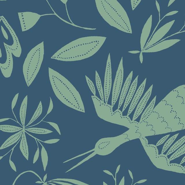 Transitional Julia Kipling Otomi Grand Wallpaper, 3 Yards, Cascade Falls For Sale - Image 3 of 3