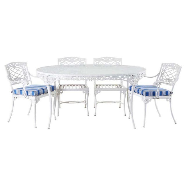 Brown Jordan Neoclassical Style Aluminum Garden Dining Set For Sale - Image 13 of 13