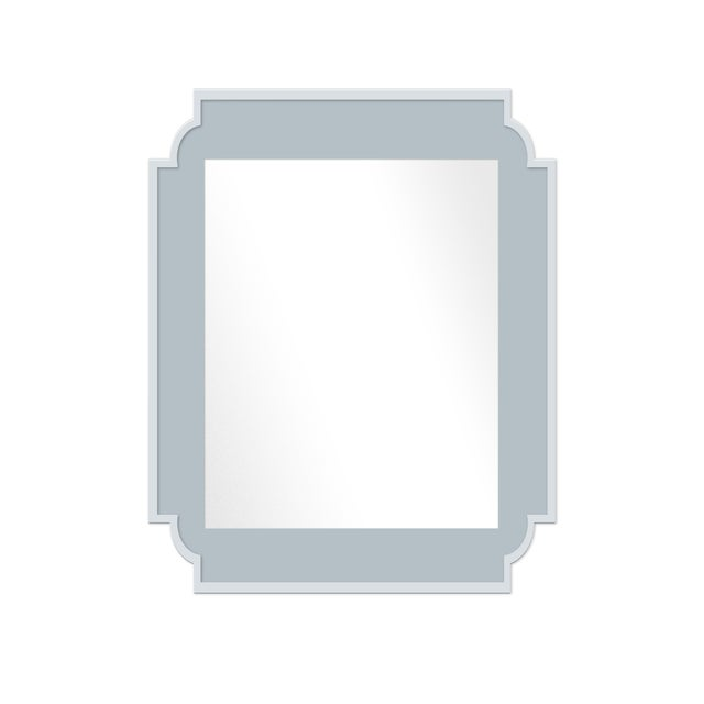Contemporary Fleur Home x Chairish Camp Mirror in Parma Gray, 24x36 For Sale - Image 3 of 3