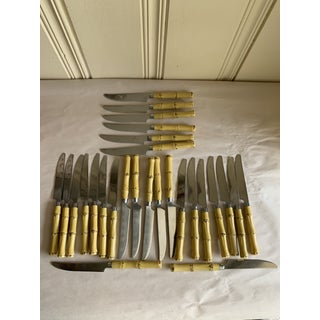 Bamboo Design Stainless Cutlery Knives-Set of Twentyseven Preview