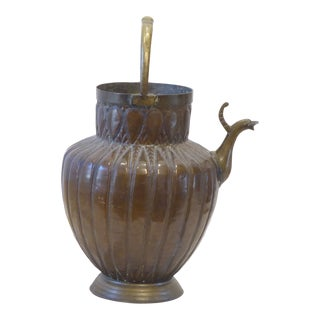19th Century Middle Eastern Bronze Ewer For Sale