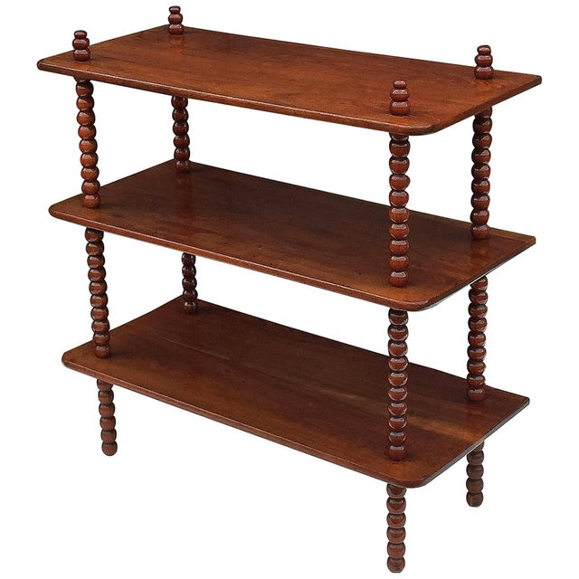 English Console Shelves of Mahogany with Bobbin Turned Supports For Sale - Image 11 of 11