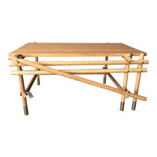 Artwork Wooden Coffee Table