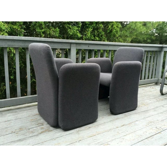 Mid-Century Bellini Style Chicklet Chairs - Pair - Image 4 of 7