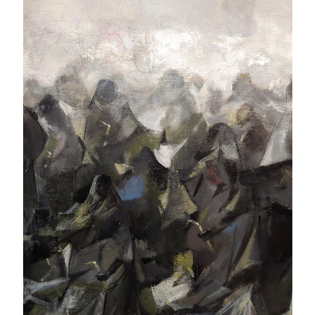 Juan Ruiz Chamizo -Procession of Nuns - Oil Painting C.1965 For Sale In Los Angeles - Image 6 of 11