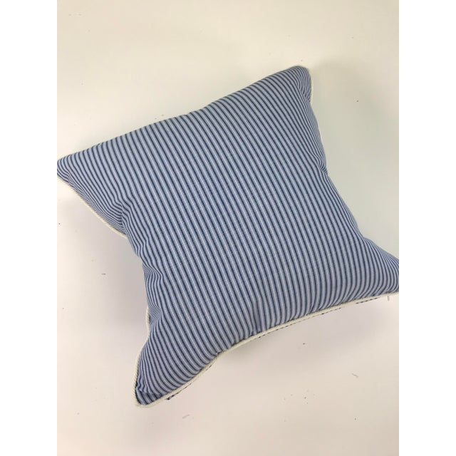 "A pair of Scalamandre Outdoor pillows 18"" x 18."" Blue, 100% Solution Dyed Acrylic Washable- bleach cleanable Nanofinish..."
