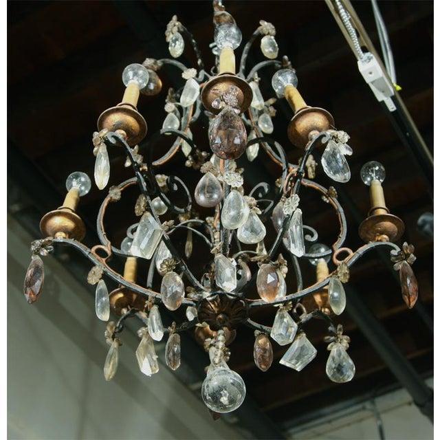 Jansen Bronze and Crystal Chandelier - Image 2 of 6