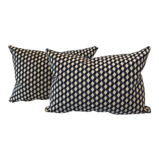 Geometric Gros Point Pillows - A Pair