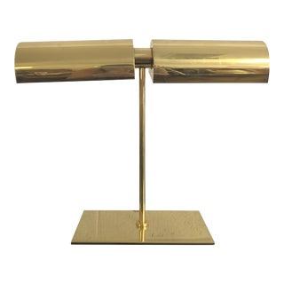 1970s Mid-Century Modern George Kovacs Brass Partners Desk Lamp