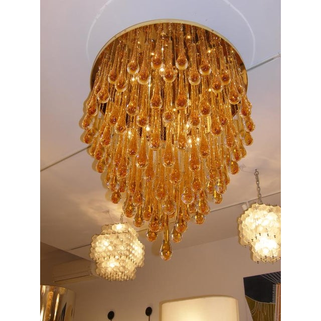 Distinguished barovier toso large amber glass teardrop chandelier barovier toso large amber glass teardrop chandelier image 3 aloadofball Images
