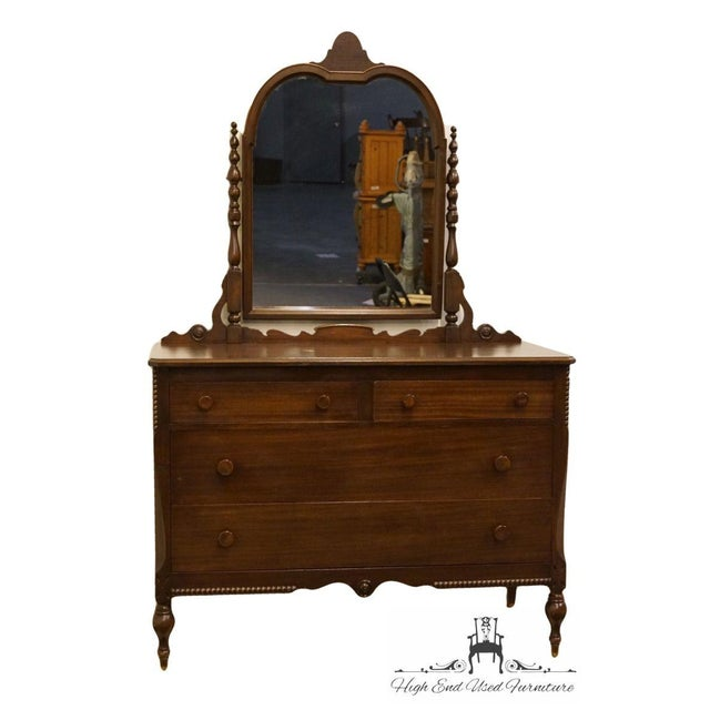 """Traditional 1960s Traditional Sligh Furniture Co. Grand RapidsMahogany 48"""" Dresser With Mirror For Sale - Image 3 of 13"""
