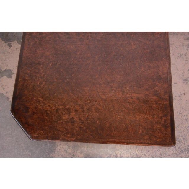 Metal Milo Baughman for Thayer Coggin Maple and Brass Cube Side Table For Sale - Image 7 of 9