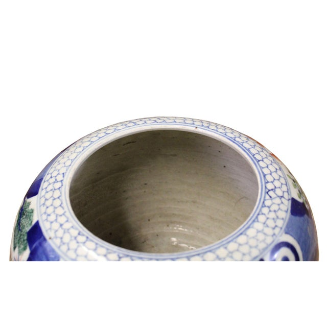 Chinese Oriental People Scenery Graphic Ceramic Vase Jar Pot For Sale - Image 4 of 9