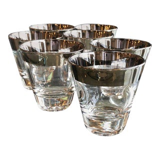 Set of seven Mid-Century Modern Dorothy Thorpe Overlay Shot Cocktail Glasses