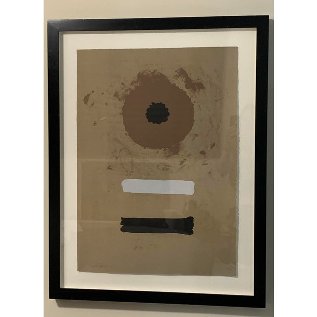 Lithograph 1969 Abstract Expressionist Pencil Signed Adolph Gottlieb Lithograph For Sale - Image 7 of 8