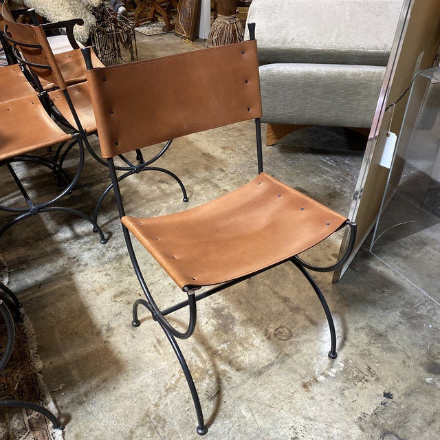 2000 - 2009 Charleston Forge Legacy Iron Dining Chairs -Set/8 For Sale - Image 5 of 11