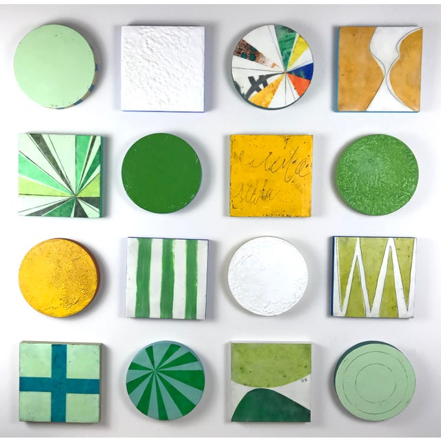 """Encaustic Collage Installation by Gina Cochran """"Grasshopper"""" - 16 Pieces For Sale - Image 9 of 9"""