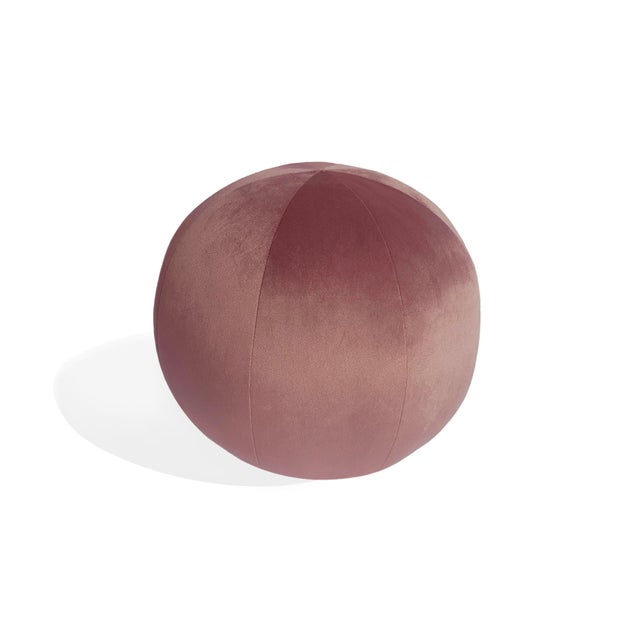 2020s Ball Pillow, Mulberry For Sale - Image 5 of 5