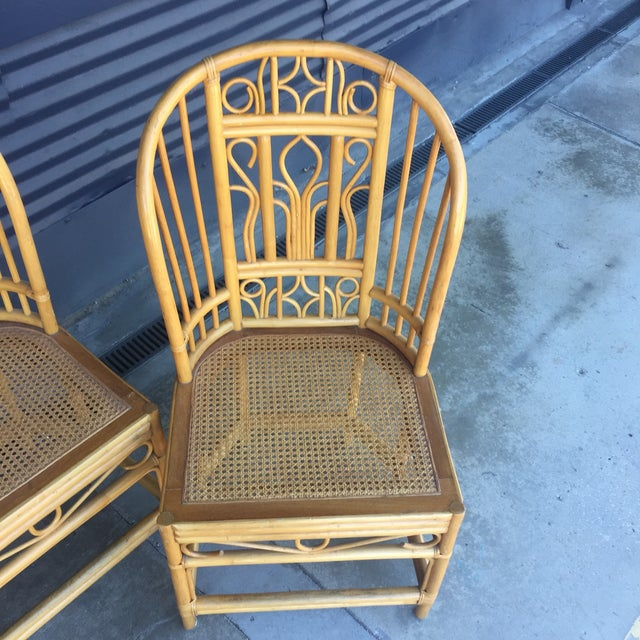 Vintage Brighton Style Dining Chairs- Set of 4 For Sale - Image 4 of 13