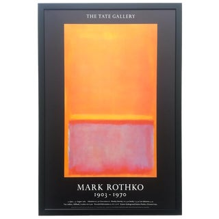"Mark Rothko Rare Vintage 1987 Abstract Expressionist Framed Collector's Tate Gallery Exhibition Poster "" Untitled "" 1949 For Sale"