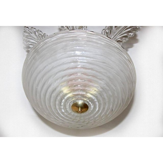 1950s Italian Barovier Murano Glass Leaf Chandelier For Sale In Dallas - Image 6 of 10
