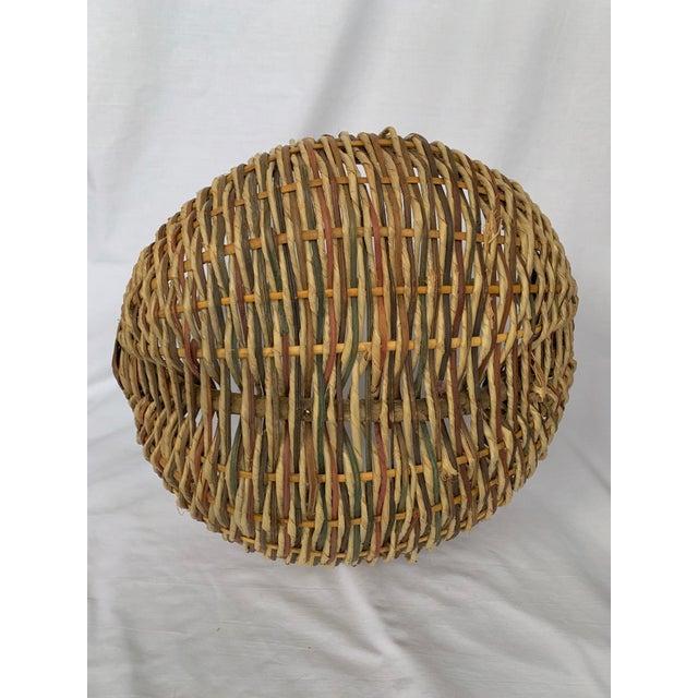 Vintage Buttocks Gathering Basket For Sale - Image 4 of 13