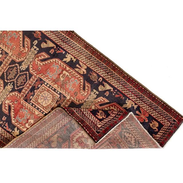 "Textile Apadana - Vintage North West Persian Rug, 4'3"" X 10'4"" For Sale - Image 7 of 8"