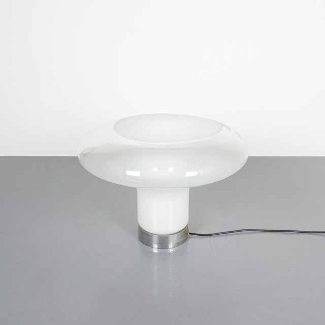 """Angelo Mangiarotti Lesbo Table Lamp Artemide, Italy, 1967. Truly iconic and impressive 19.7"""" in diameter this table light..."""